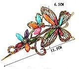 Ecloud Shop® aleación de bronce de cristal de la mariposa de la joyería con la pinza de pelo