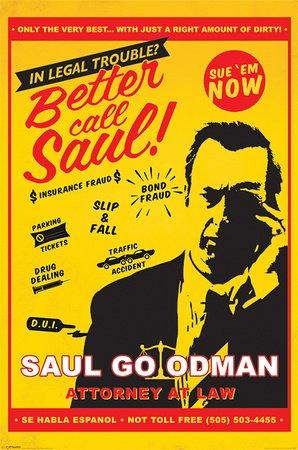 Poster Breaking Bad - Better Call Saul Attorney At Law - manifesto risparmio, cartellone XXL