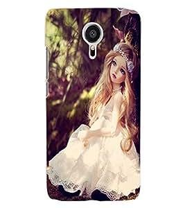 ColourCraft Cute Doll Back Case Cover for MEIZU MX5
