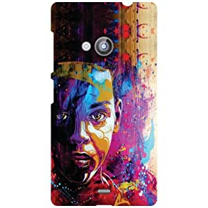 Nokia Lumia 535 Back Cover - Colored Man Designer Cases