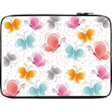 Snoogg Butterfly Pattern 2760 12 To 12.6 Inch Laptop Netbook Notebook Slipcase Sleeve