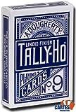 US Playing Card Company - Pokerkarten - TALLY-HO Fan Blau hergestellt von United States Playing Card Company