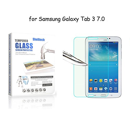 Tab 3 7.0 Tempered Glass Screen Protector, Shelltech 9h Hardness, 0.33 MM Clear Premium High Definition Bubble Free Screen Protector for Galaxy Tab 3 7.0 P3210 T210 T211