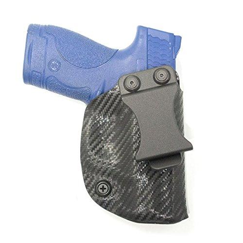 Black Carbon Fiber Kydex Concealment IWB Holster (Right-Hand, Glock 19, 23, 32) (Black Carbon Fiber Kydex compare prices)