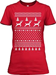 Ugly Christmas Sweater T Shirt Funny Holiday Shirts For Women from Crazy Dog Tshirts