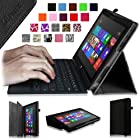 Fintie Folio Case for Microsoft Surface RT / Surface 2 10.6 inch Tablet Slim Fit with Stylus Holder (Does Not Fit Windows 8 Pro Version) - Black