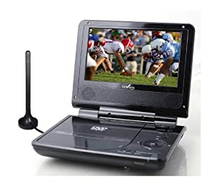 "Envizen Digital ED8850B Duo Box Pro 7"" Portable LCD TV/DVD Player"