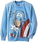 Marvel Big Boys' Star Captain Long-Sleeve Sweatshirt