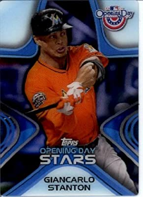 2014 Topps Opening Day Stars 3-D Baseball Card #ODS-23 Giancarlo Stanton Miami Marlins