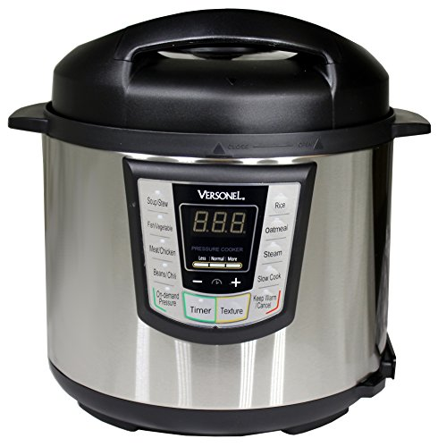 Discover Bargain Versonel 6 Quart Programmable 6 in 1 Electric Pressure Cooker 6Qt/1000W Stainless S...