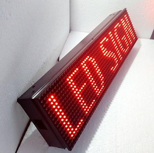 "6"" X 38"" PROGRAMMABLE SCROLLING RED COLOR TEXT LED SIGN BOARD FULLY OUTDOOR LOGO ANIMATION DISPLAY BEER BAR SHOP STORE SIGN OPEN CLOSE"