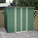 8 x 6 Pent Metal Shed, garden shed, storage, metal store with double doors from Buttercup Farm