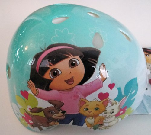 "Dora the Explorer ""Pets"" Hard Shelled Child's Helmet and Bike Bell; Ages 5+"