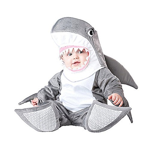 [Zhiban Halloween Cosplay Costumes Baby Boys' Silly Shark Costumes Infant Onesize S] (Baby Silly Shark Costumes)