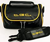 TGC ® Camera Case for Fujifilm FinePix S2950 with shoulder strap and Carry Handle (Jet black & Sunshine Yellow)