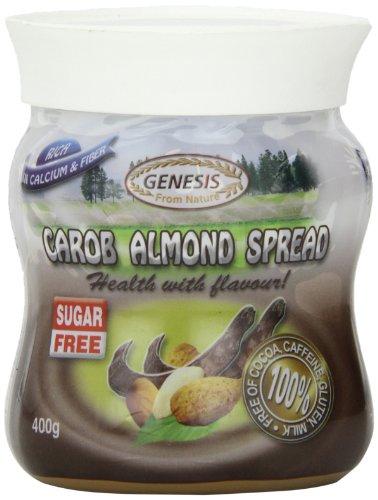 Genesis Carob Almond Spread Sugar Free Spread, 14.1 Ounce