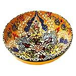 Turkish Ceramics~Hand Painted Ceramic Bowl-5 inch-yellow