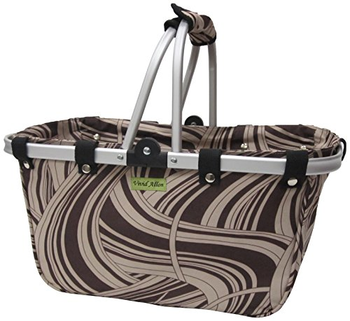 JanetBasket Large Aluminum Frame Basket, 18-Inch x 10-Inch x 9.5-Inch, Chocolate Swirl from NCM Canada, Inc.