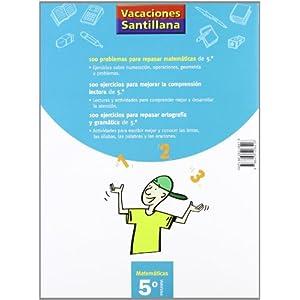 Vacaciónes Santillana, matemáticas, 5 Educación