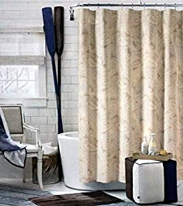 Tommy Hilfiger Fabric Shower Curtain Beige Gray And Tan Mission