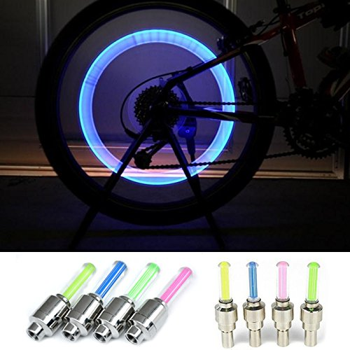 Why Choose AMAZING162 New Arrived Multicolor Bike Bicycle Car Wheel Tire Valve Cap Spoke Neon LED Li...