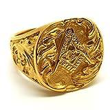 BOBIJOO Jewelry - Chevaliere Bague Acier Inoxydable Franc-Macon Maconnerie Masonic