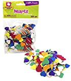 Creative Hands by Fibre-Craft - Heart Foam Stickers 300/Pkg - Arts and Crafts - No Glue or Scissors Required - For Ages 3 and Up