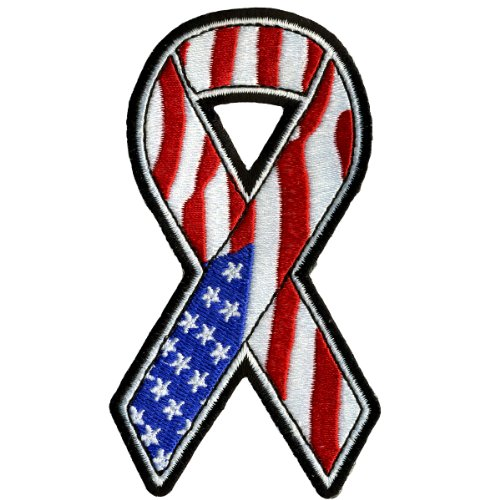 Hot Leathers Amer Flag Ribbon Patch (2