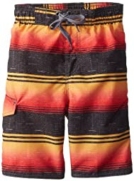 Kanu Surf Big Boys\' The Good Life Swim Trunks, Black/Red, Medium (10/12)