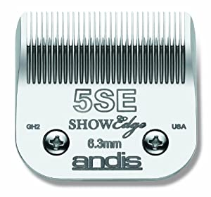 Andis Carbon-Steel ShowEdge Dog Clipper Blade, Size-5SE, 1/4-Inch Cut Length