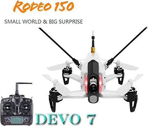 【国内在庫】Walkera ワルケラ Rodeo 150 ドローン(ホワイト) + DEVO7送信機 (カメラ/バッテリー/充電器付) Rodeo150日本語マニュアル付