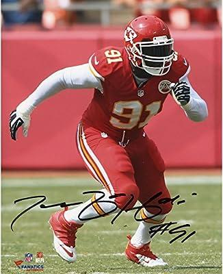 "Tamba Hali Kansas City Chiefs Autographed 8"" x 10"" Vertical Red Uniform Photograph - Fanatics Authentic Certified"
