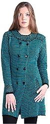 Montrex Women's Plain Coats (Montrex-8818Turquosie, Turquoise, L)