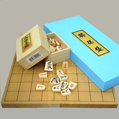 将棋セット 新桂6号折れ将棋盤と将棋駒優良押しのセット
