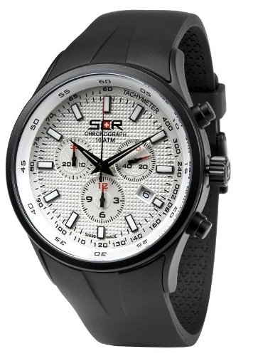 Swiss Code Red Dark Scorpion ICE WHITE - Black Chronograph for Him Swiss Made