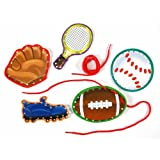 Eureka Lace And Learn Sports Stickers