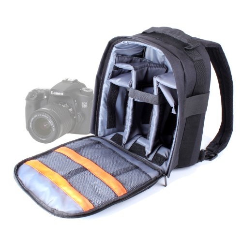 Duragadget High Quality Slr / Dslr Camera Backpack / Rucksack With Adjustable Padded Interior For Canon - Eos 5D Mark Ii/Mk Ii, Eos 650D, Eos 600D, Eos 70D, Eos 60Da & Eos 6D
