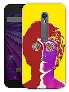 """Humor Gang John Lennon Trippy Printed Designer Mobile Back Cover For """"Motorola Moto X Style"""" (3D, Matte, Premium Quality Snap On Case)"""