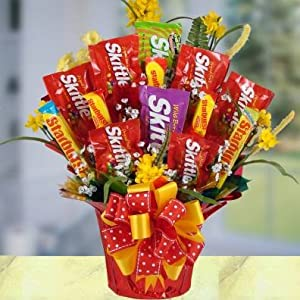Screaming Skittles Bouquet Candy Gift Basket