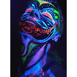 Black Light Reactive Neon Makeup with Black Light Pendant #2: 51G5kENslBL SL500 AA300