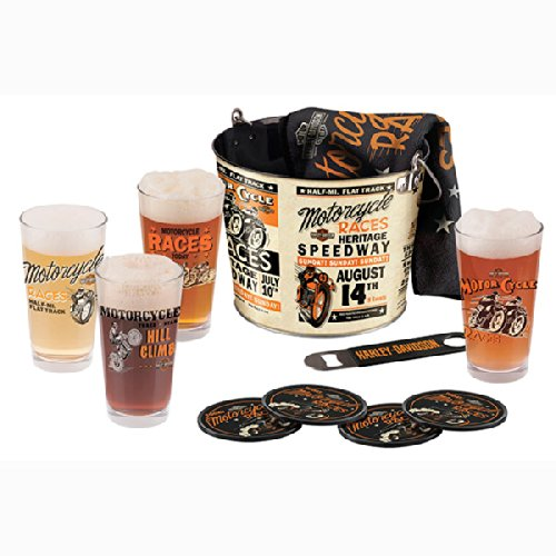 Harley-Davidson® Race Day Pint Glass Bucket Set - 10-Pc.