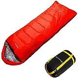 洗濯OK monterosa 封筒型 寝袋 シュラフ 耐寒温度最大 -15℃ 赤 黒