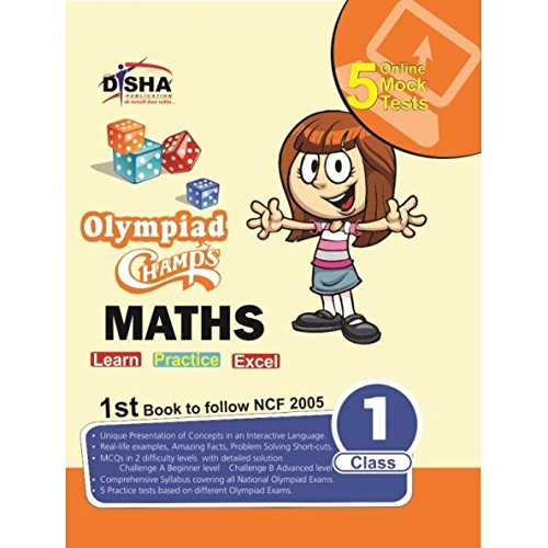 Olympiad Champs Mathematics Class 1 with 5 Online Mock Tests