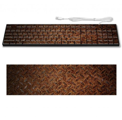 Rust Metal Iron Pattern Design Keyboard Customized Made To Order Support Ready 16 7/8 Inch (430Mm) X 4 7/8 Inch (125Mm) X 15/16 Inch (25Mm) High Quality Msd Key Board Boards Desktop Laptop Key_Board Comfortable Computer Accessories Cute Gaming Gear