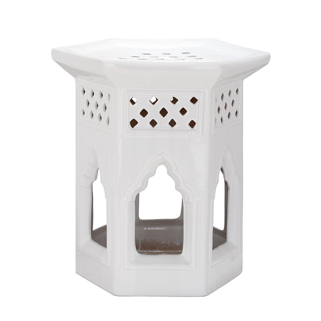 Gartenhocker Moroccan Farbe: Weiß günstig online kaufen