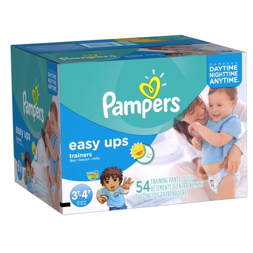 Pampers Easy Ups Boys Size 3T4T Big Pack 54 Count