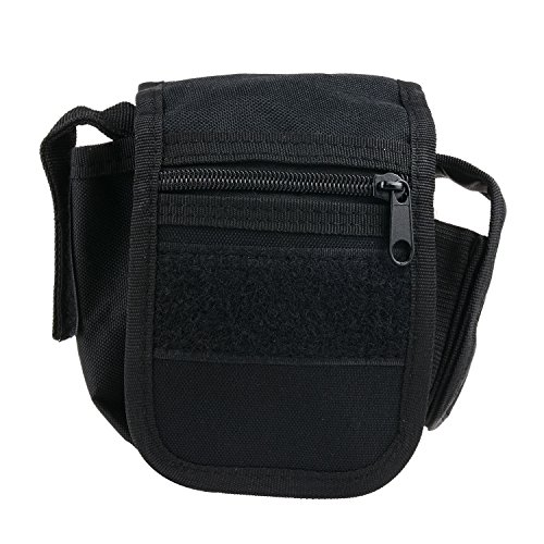 Utility Pouch - Compact Water-resistant Multi-purpose EDC Gadget Gear Tools Organizer - Waist Bags Pack Cell Phone Holster (Black) (High Waist Griddle compare prices)
