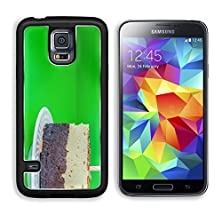 buy Msd Samsung Galaxy S5 Aluminum Plate Bumper Snap Case Chocolate Brownie Cake With Almond Candle On Top In Colorful Background Image 20817489