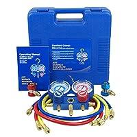 Zeny® Hvac A/c Refrigeration Kit Ac Manifold Gauge Set Brass R134a Auto Service Kit (#04) by Zeny