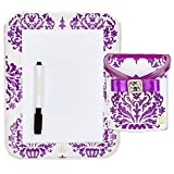 Locker Lookz Dry Erase Board and Bin Set 2014 Limited Edition (Set of 2) (Purple Damask)